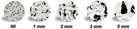 Варианты размеров флоковых частичек