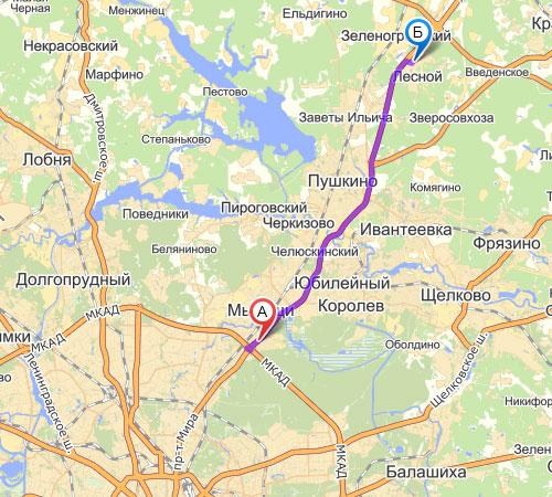 Ярославское шоссе, 27-й км., пос. Лесной
